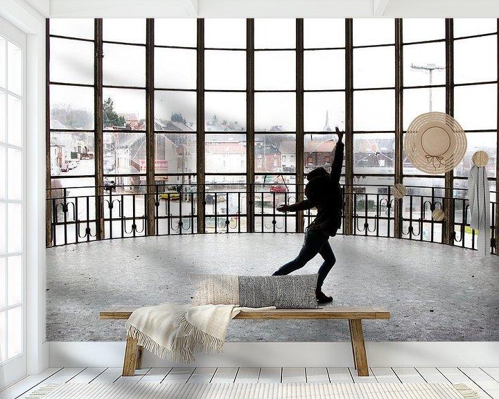 Beispiel fototapete: Tanzen im Gebäude Piscine du Mosq von Martijn Mureau