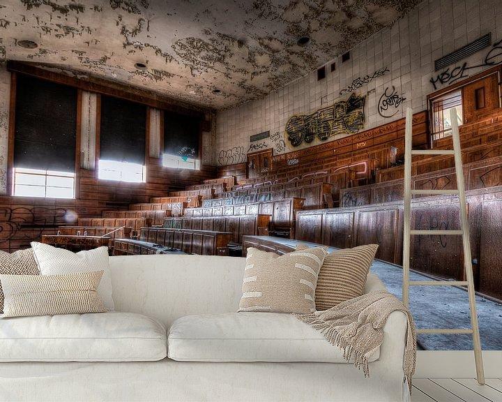 Beispiel fototapete: Hörsaal der Universität Val Benoit, Lüttich von Martijn Mureau