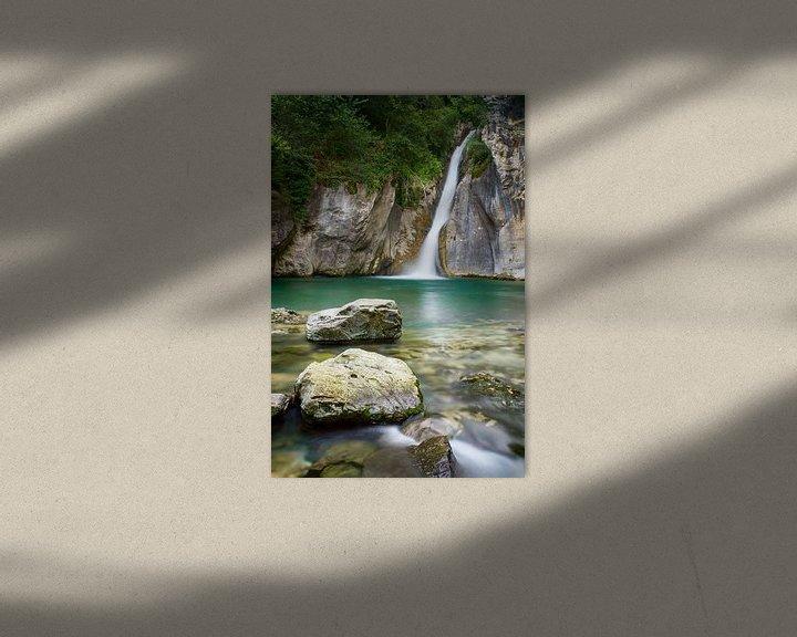 Beispiel: Wasserfall im Wald von Mark Bolijn