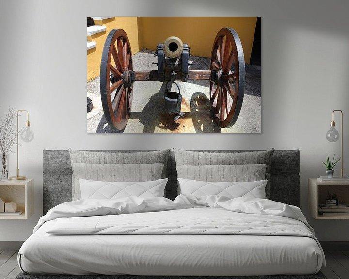 Sfeerimpressie: kanon bij fort amsterdam willemstad curacao van Frans Versteden