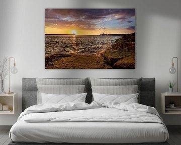 Hafenkopf Scheveningen bei Sonnenuntergang von Retinas Fotografie