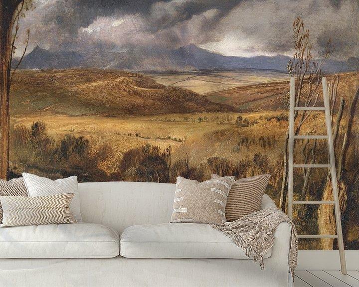 Beispiel fototapete: A Highland Landscape, Edwin Landseer