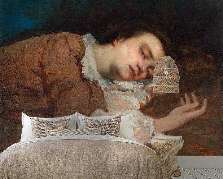 Beispiel fototapete: Study for Les Demoiselles des bords de la Seine, Gustave Courbet