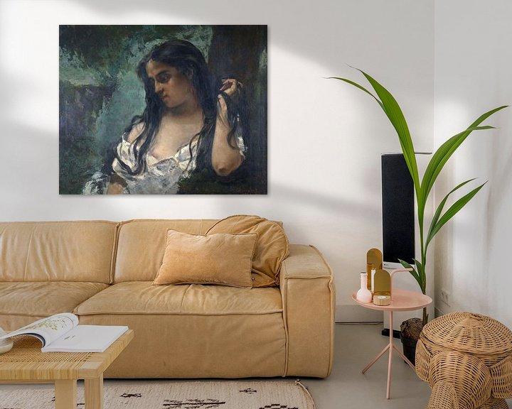 Beispiel: Gypsy in Reflection, Gustave Courbet