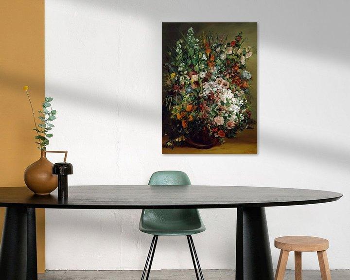 Beispiel: Bouquet of Flowers in a Vase, Gustave Courbet
