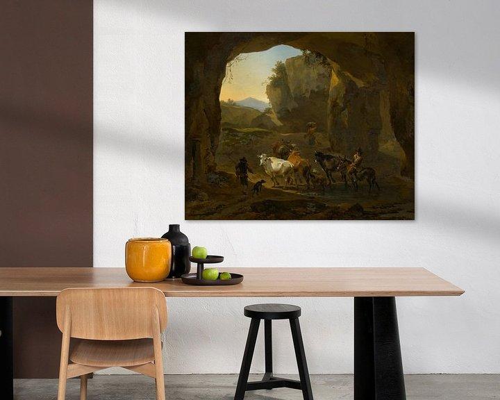 Beispiel: Cowherds in a Grotto, Nicolaes Berchem
