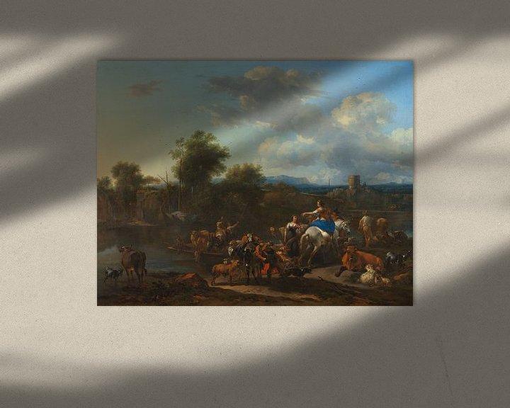 Beispiel: The Cattle Ferry, Nicolaes Berchem