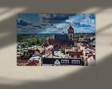 Blick auf die Hansestadt Rostock von Rico Ködder