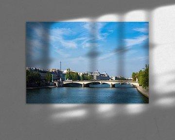 Blick über die Seine in Paris, Frankreich von Rico Ködder