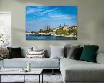 View over the river Seine in Paris, France van Rico Ködder