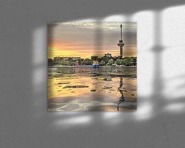 Wasser-Reflexion Euromast, Rotterdam von Frans Blok