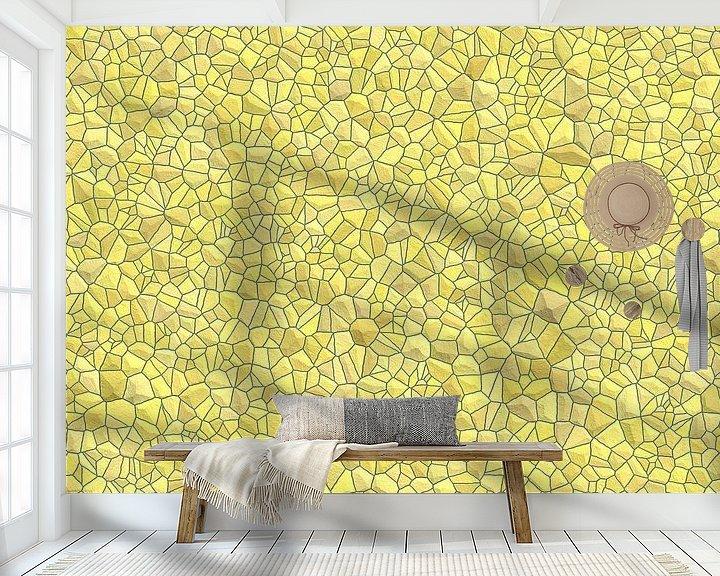 Beispiel fototapete: Stein Muster gelb von Marion Tenbergen