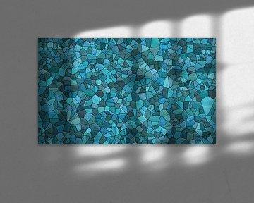 Steinmuster blau