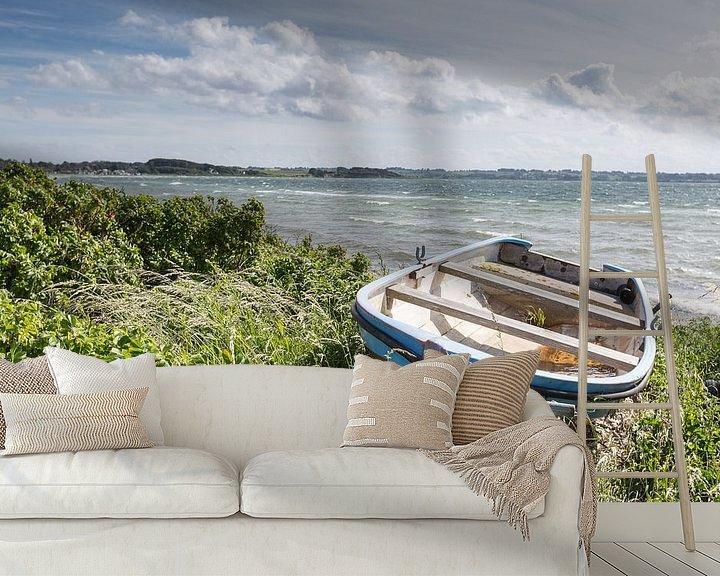 Beispiel fototapete: Boot in den Dünen auf Aerö von Matthias Nolde
