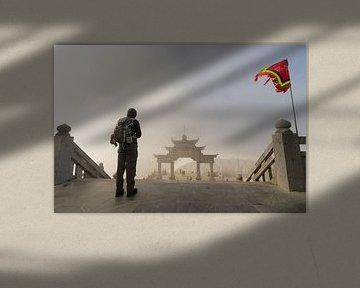 Auf dem Weg zum Tor - Fansipan, Sa Pa, Vietnam von Thijs van den Broek