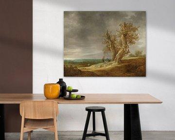Landschap met twee eiken, Jan van Goyen