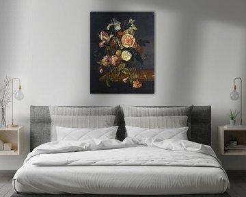 Stillleben mit Blumen, Jacob van Walscapelle