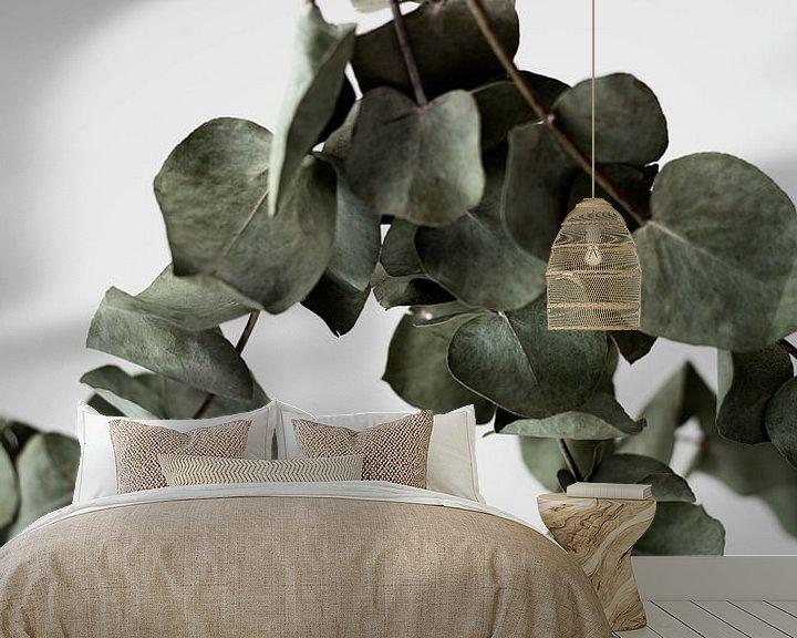Sfeerimpressie behang: eucalyptus van Melanie Schat