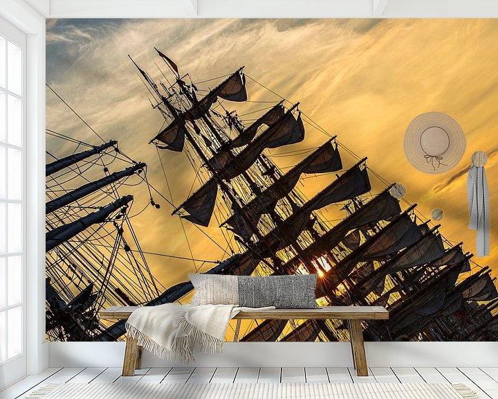 Sfeerimpressie behang: Sail Amsterdam 2015 van Dick Jeukens