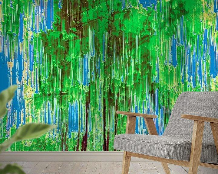 Beispiel fototapete: Wald und ein klarer blauer Himmel von Dick Jeukens