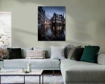 Voorburgwal Amsterdam van Jeroen van Dam