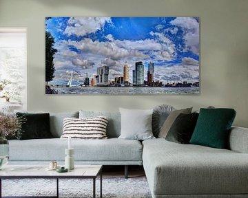 Skyline von Rotterdam 1 von Hendrik-Jan Kornelis