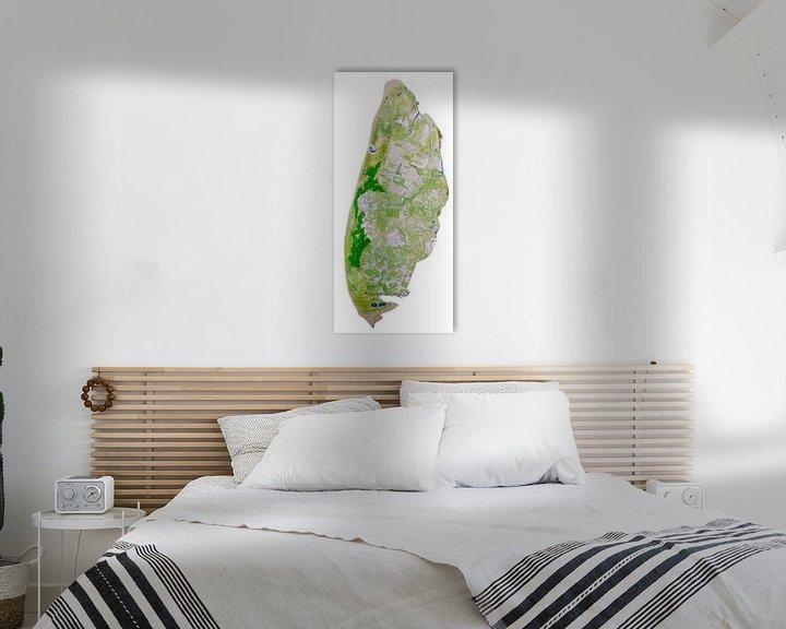 Beispiel: Texel Karte Aquarellmalerei von Wereldkaarten.Shop