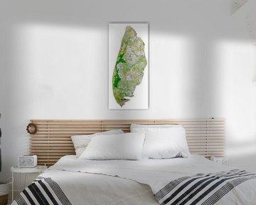 Texel Karte Aquarellmalerei von Wereldkaarten.Shop