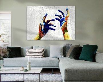 Hands of a painter von PictureWork - Digital artist
