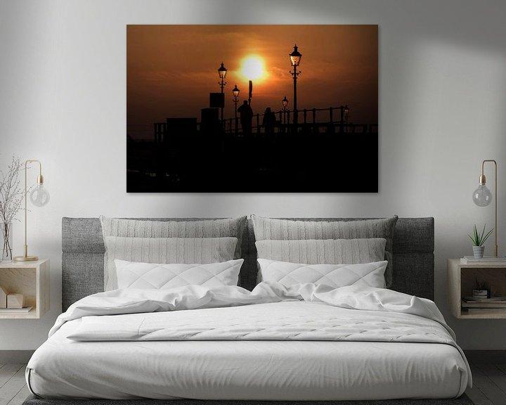 Sfeerimpressie: Sfeervolle zonsondergang van Rob De Jong