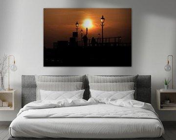 Sfeervolle zonsondergang