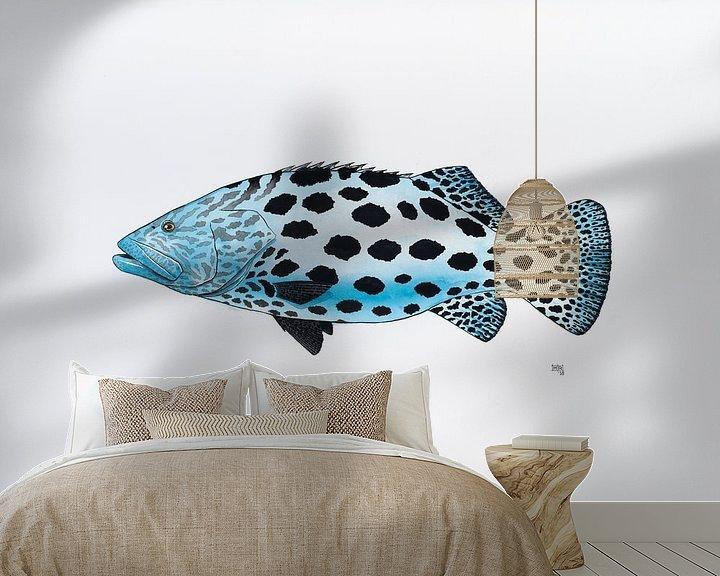 Beispiel fototapete: Fisch Serie B von Martino Romijn