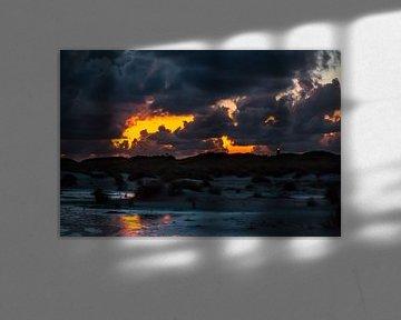 Das Watt im Sonnenuntergang von Alexander Wolff