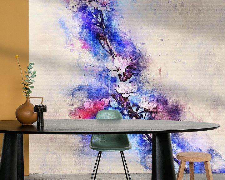 Sfeerimpressie behang: Bloesem van Sharon Harthoorn