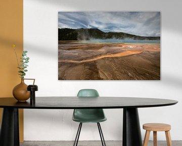 Indrukwekkende zwavelbron in Yellowstone USA von Hans Jansen