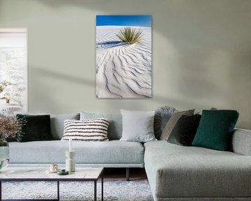 Dessin des vagues des dunes, White Sands National Monument sur Melanie Viola