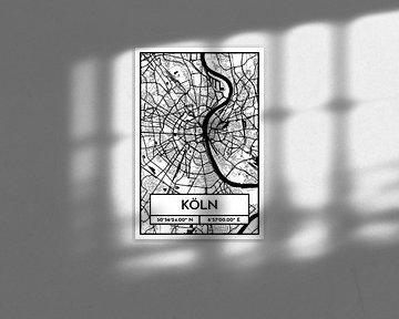 Köln – City Map Design Stadtplan Karte (Retro) von ViaMapia