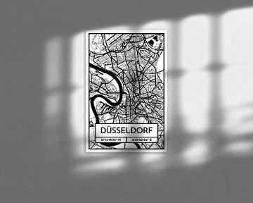Düsseldorf – City Map Design Stadtplan Karte (Retro) von ViaMapia
