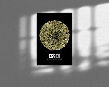 Essen – City Map Design Stadtplan Karte (Grunge) von ViaMapia