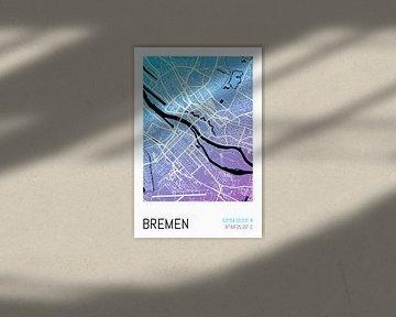 Bremen - Stadsplattegrondontwerp Stadsplattegrond (hellingshoek) van ViaMapia