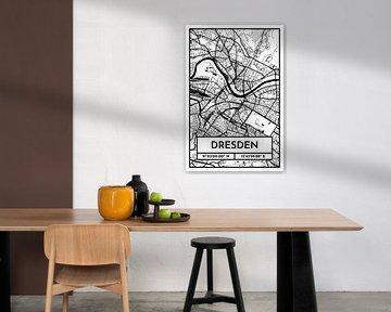 Dresden - Stadsplattegrond ontwerp stadsplattegrond (Retro) van ViaMapia