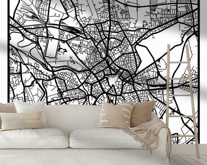 Beispiel fototapete: Hannover – City Map Design Stadtplan Karte (Retro) von ViaMapia