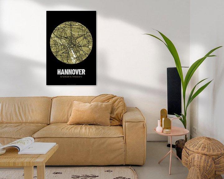 Beispiel: Hannover – City Map Design Stadtplan Karte (Grunge) von ViaMapia