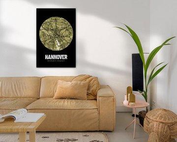 Hannover - Stadsplattegrondontwerp Stadsplattegrond (Grunge) van ViaMapia