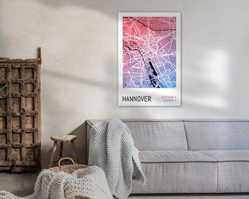 Hannover - Stadsplattegrondontwerp Stadsplattegrond (kleurverloop) van ViaMapia