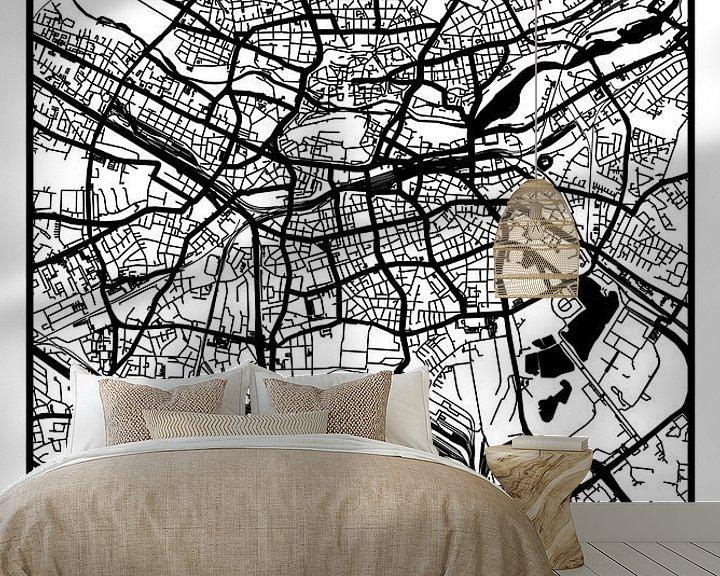 Beispiel fototapete: Nürnberg – City Map Design Stadtplan Karte (Retro) von ViaMapia