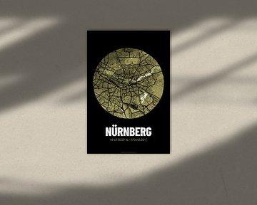 Neurenberg - Stadsplattegrond ontwerp stadsplattegrond (Grunge) van ViaMapia