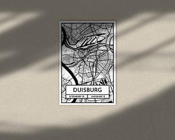 Duisburg - Stadsplattegrondontwerp Stadsplattegrond (Retro) van ViaMapia