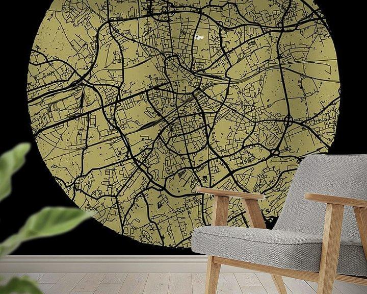 Beispiel fototapete: Bochum – City Map Design Stadtplan Karte (Grunge) von ViaMapia