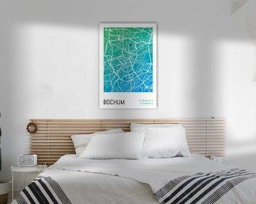 Bochum - Stadsplattegrondontwerp Stadsplattegrond (kleurverloop) van ViaMapia